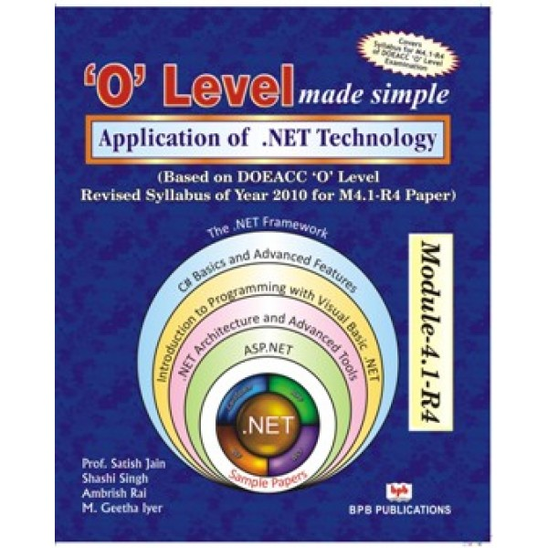 Application of .NET Technology (M4.1-R4) by  (Author) BPB Publications (Publisher)