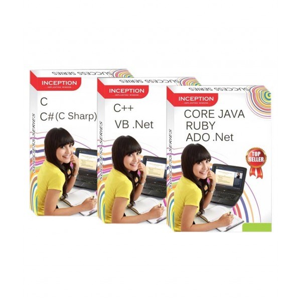 Learn C, C++, CORE JAVA, ADO .Net, RUBY, C# (C Sharp), VB .Net - 7 FULL COURSES Pack - SOFTWARE DEVELOPMENT and PROGRAMMING (Inception Success Series - 3 CDs)